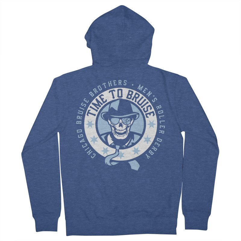 Do Work Men's Zip-Up Hoody by Chicago Bruise Brothers Roller Derby