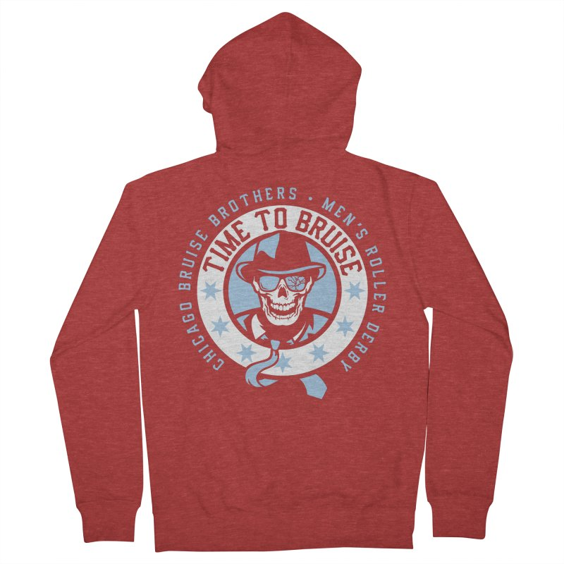 Do Work Women's French Terry Zip-Up Hoody by Chicago Bruise Brothers Roller Derby