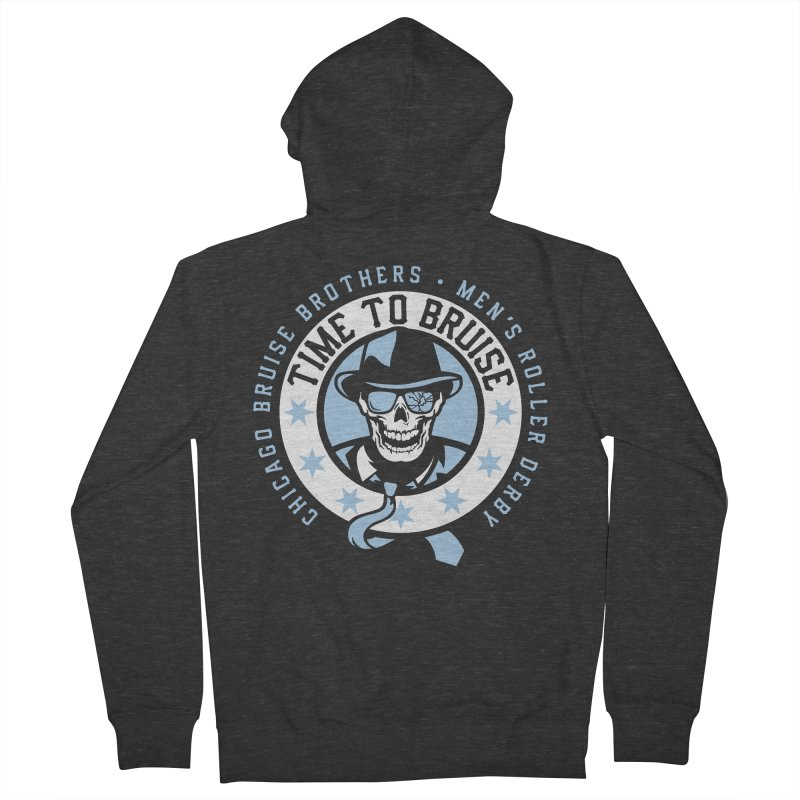 Do Work Men's French Terry Zip-Up Hoody by Chicago Bruise Brothers Roller Derby