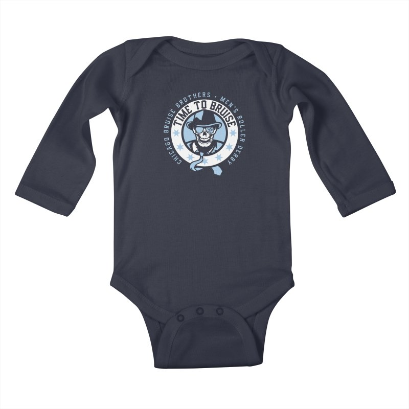 Do Work Kids Baby Longsleeve Bodysuit by Chicago Bruise Brothers Roller Derby