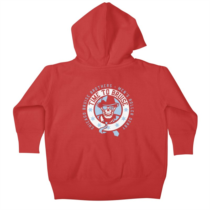 Do Work Kids Baby Zip-Up Hoody by Chicago Bruise Brothers Roller Derby