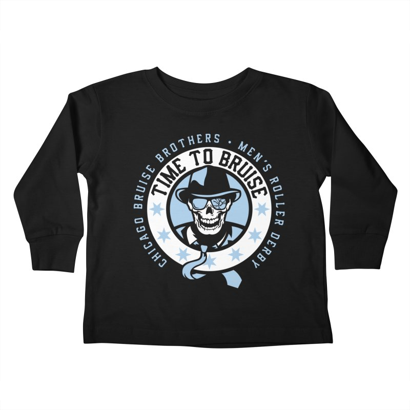 Do Work Kids Toddler Longsleeve T-Shirt by Chicago Bruise Brothers Roller Derby