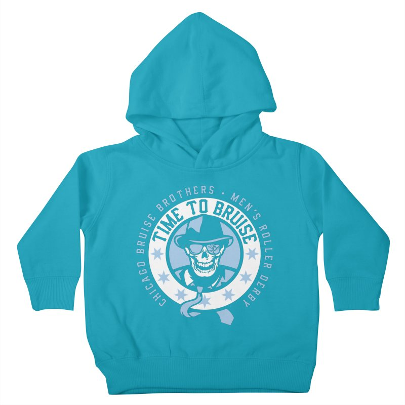 Do Work Kids Toddler Pullover Hoody by Chicago Bruise Brothers Roller Derby