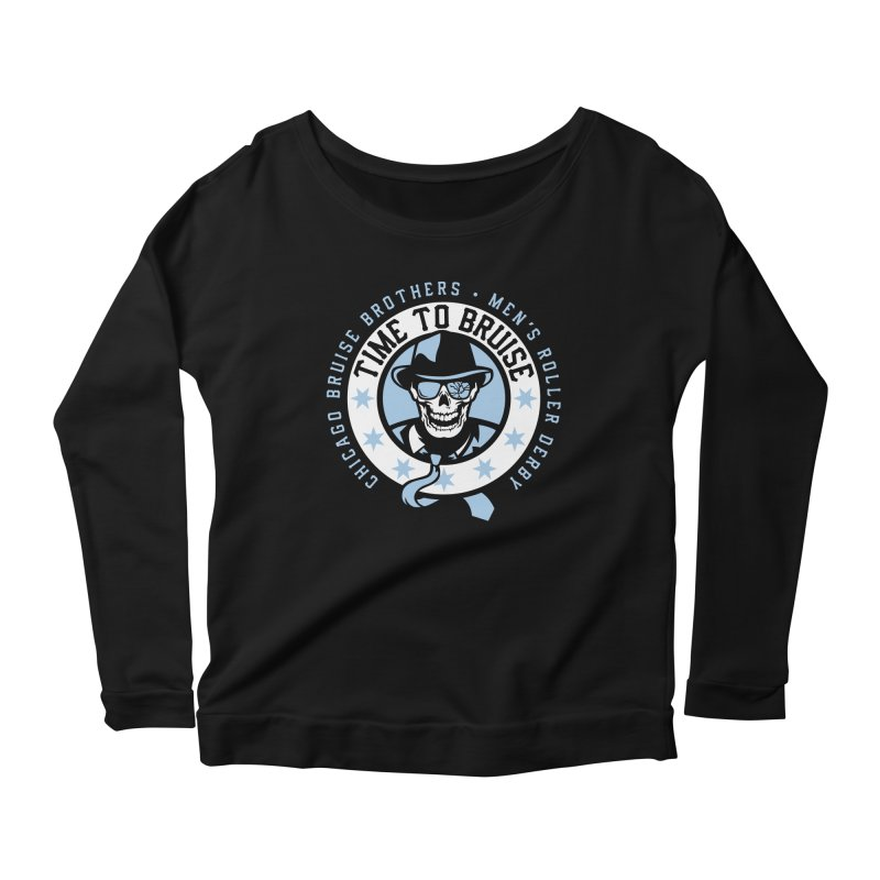Do Work Women's Scoop Neck Longsleeve T-Shirt by Chicago Bruise Brothers Roller Derby