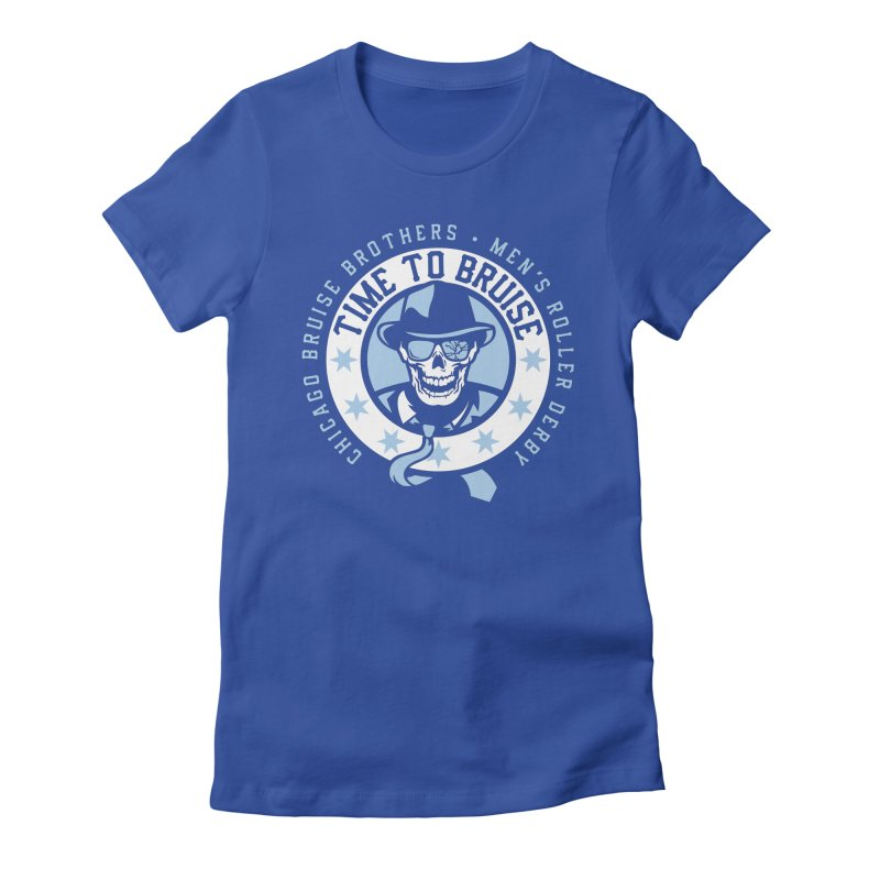 Do Work Women's Fitted T-Shirt by Chicago Bruise Brothers Roller Derby