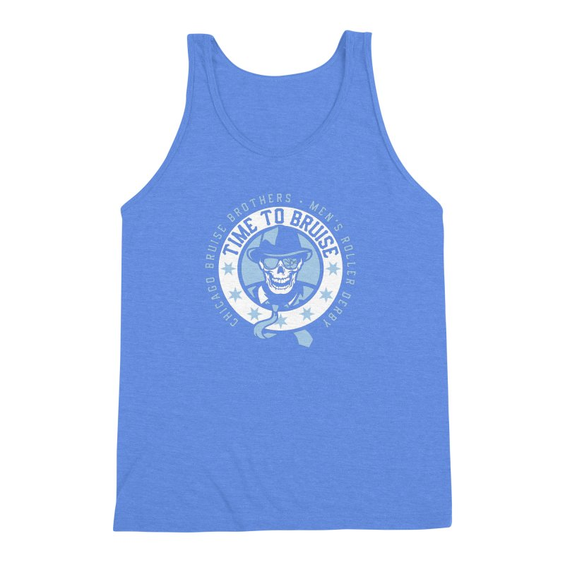 Do Work Men's Triblend Tank by Chicago Bruise Brothers Roller Derby