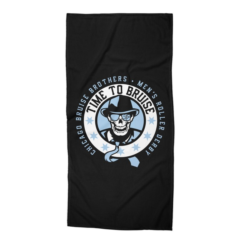 Do Work Accessories Beach Towel by Chicago Bruise Brothers Roller Derby