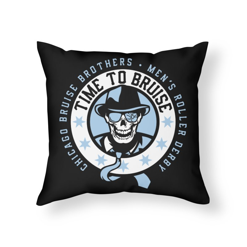 Do Work Home Throw Pillow by Chicago Bruise Brothers Roller Derby