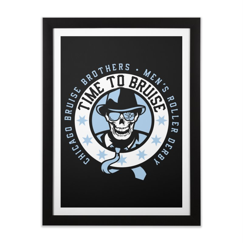 Do Work Home Framed Fine Art Print by Chicago Bruise Brothers Roller Derby