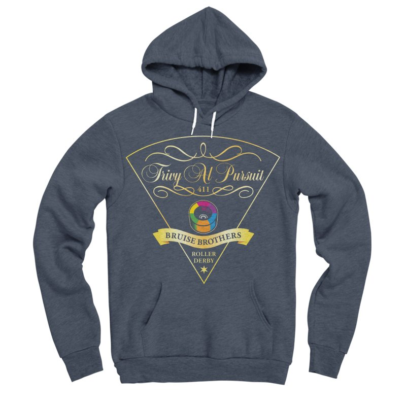 Skater Series: Trivy Al Pursuit Men's Sponge Fleece Pullover Hoody by Chicago Bruise Brothers Roller Derby