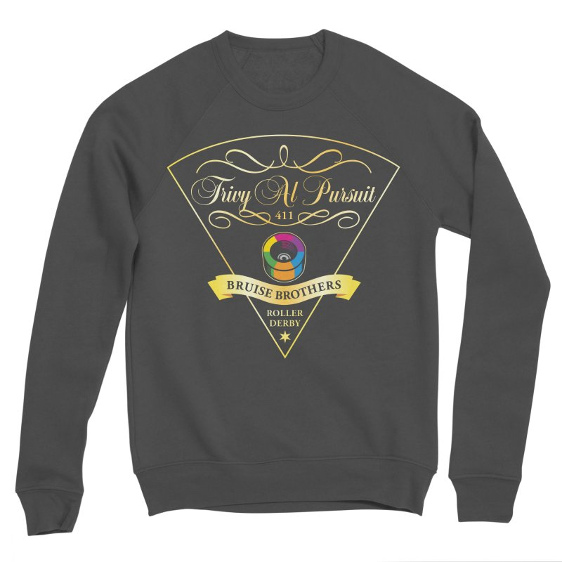 Skater Series: Trivy Al Pursuit Men's Sponge Fleece Sweatshirt by Chicago Bruise Brothers Roller Derby