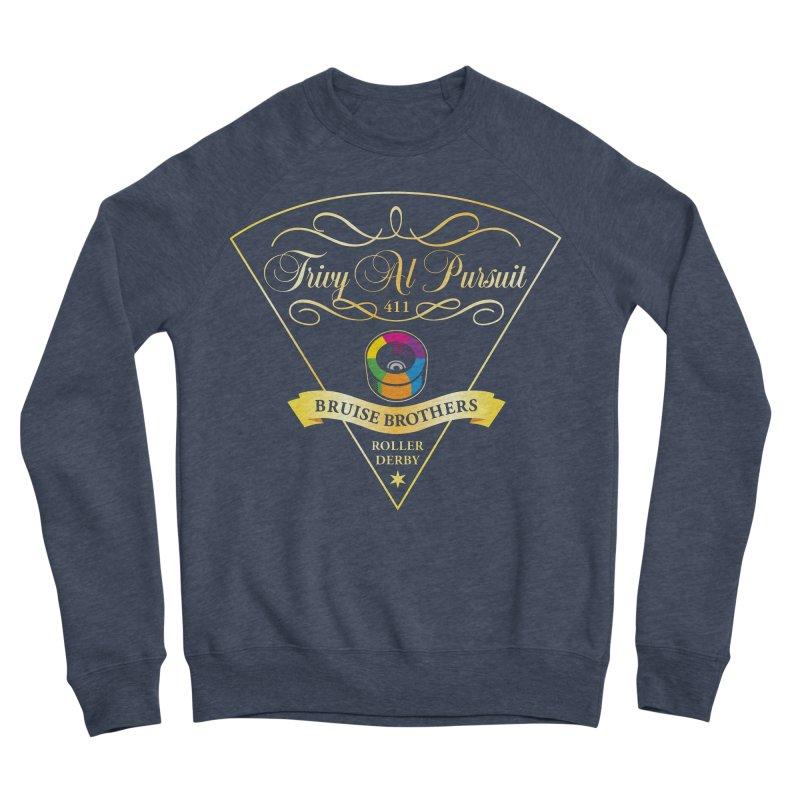 Skater Series: Trivy Al Pursuit Men's Sponge Fleece Sweatshirt by Chicago Bruise Brothers Roller Derby