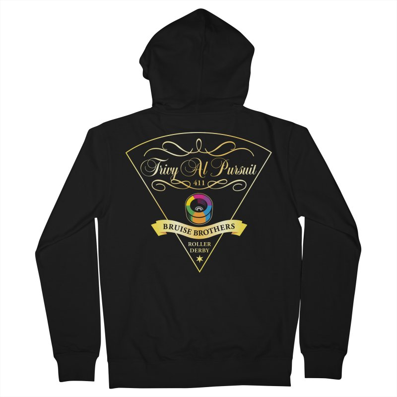 Skater Series: Trivy Al Pursuit Men's French Terry Zip-Up Hoody by Chicago Bruise Brothers Roller Derby