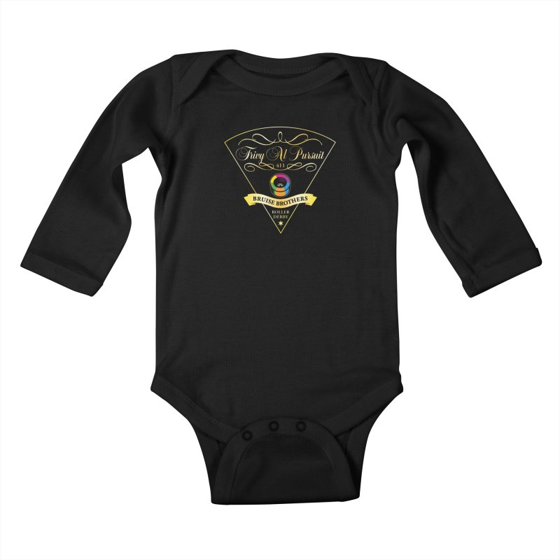 Skater Series: Trivy Al Pursuit Kids Baby Longsleeve Bodysuit by Chicago Bruise Brothers Roller Derby
