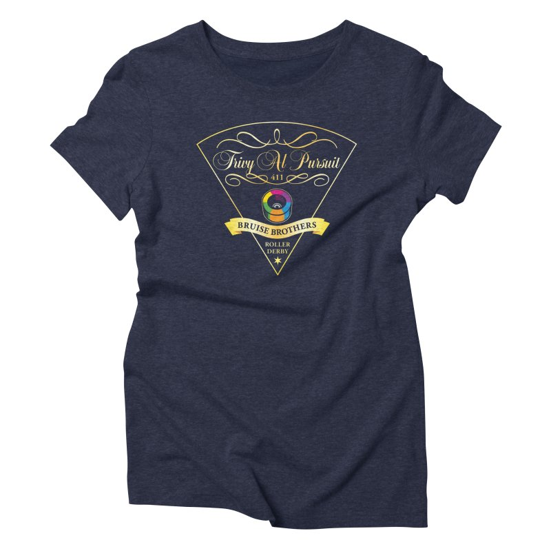 Skater Series: Trivy Al Pursuit Women's Triblend T-Shirt by Chicago Bruise Brothers Roller Derby