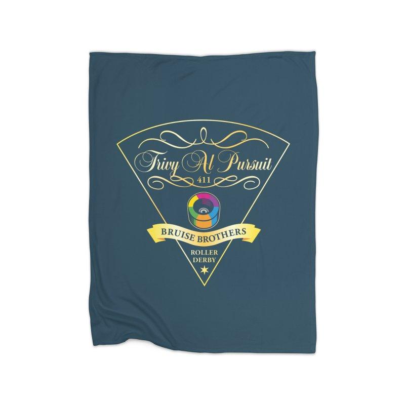 Skater Series: Trivy Al Pursuit Home Fleece Blanket Blanket by Chicago Bruise Brothers Roller Derby