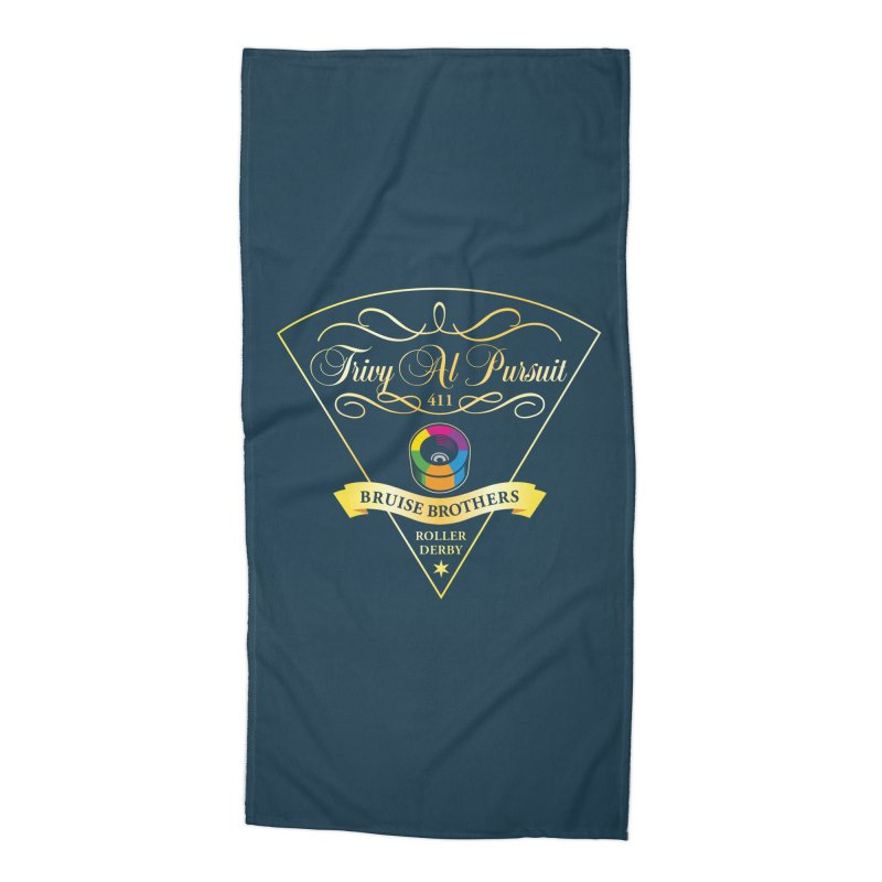 Skater Series: Trivy Al Pursuit Accessories Beach Towel by Chicago Bruise Brothers Roller Derby