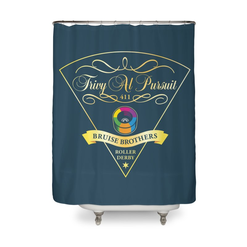 Skater Series: Trivy Al Pursuit Home Shower Curtain by Chicago Bruise Brothers Roller Derby
