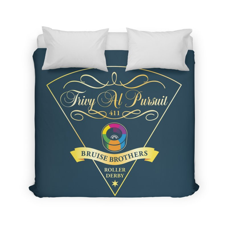 Skater Series: Trivy Al Pursuit Home Duvet by Chicago Bruise Brothers Roller Derby