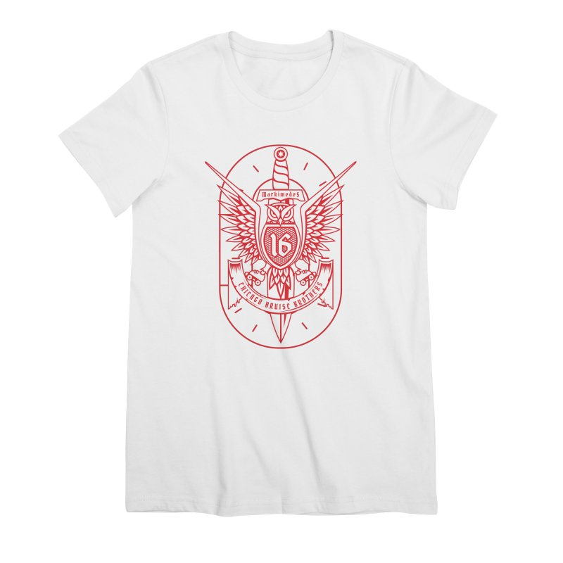 Skater Series: Markimedes Women's Premium T-Shirt by Chicago Bruise Brothers Roller Derby