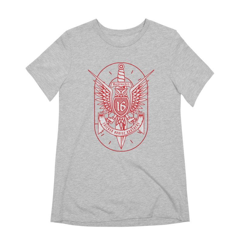 Skater Series: Markimedes Women's Extra Soft T-Shirt by Chicago Bruise Brothers Roller Derby