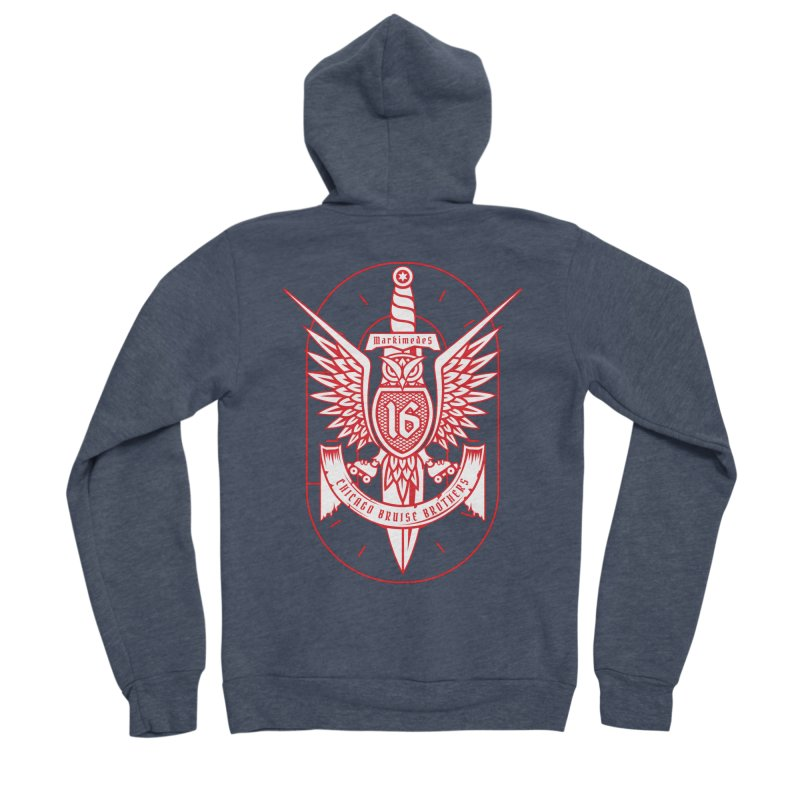 Skater Series: Markimedes Women's Sponge Fleece Zip-Up Hoody by Chicago Bruise Brothers Roller Derby