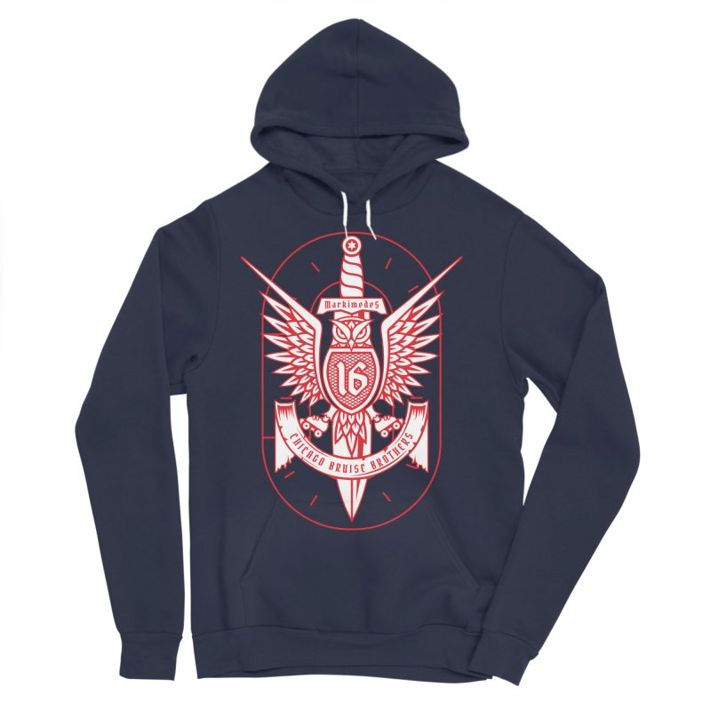 Skater Series: Markimedes Men's Sponge Fleece Pullover Hoody by Chicago Bruise Brothers Roller Derby
