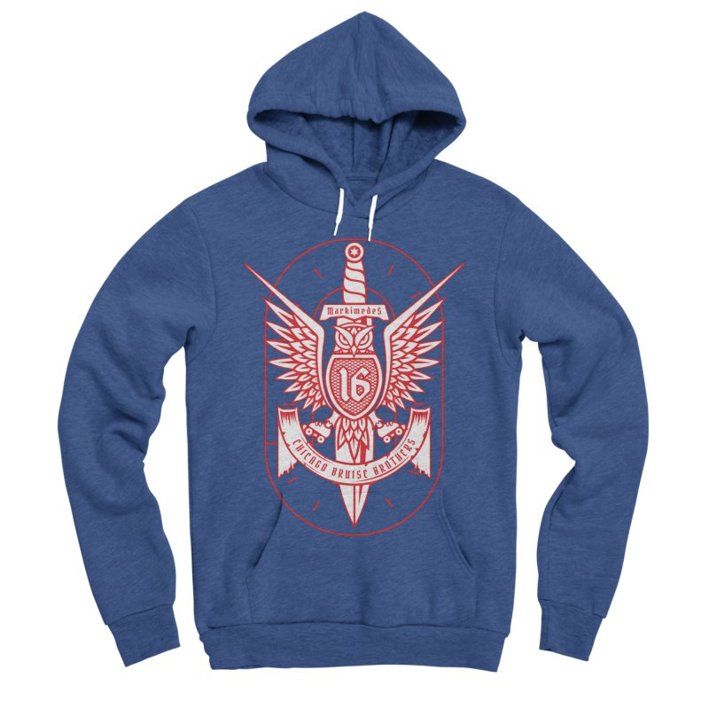 Skater Series: Markimedes Women's Sponge Fleece Pullover Hoody by Chicago Bruise Brothers Roller Derby