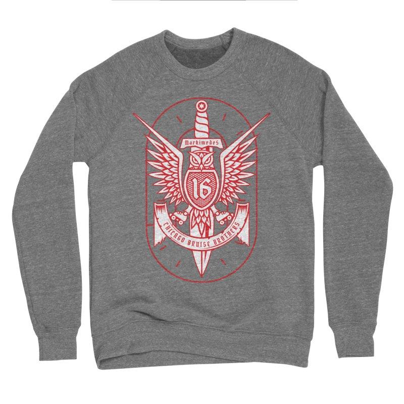 Skater Series: Markimedes Men's Sponge Fleece Sweatshirt by Chicago Bruise Brothers Roller Derby