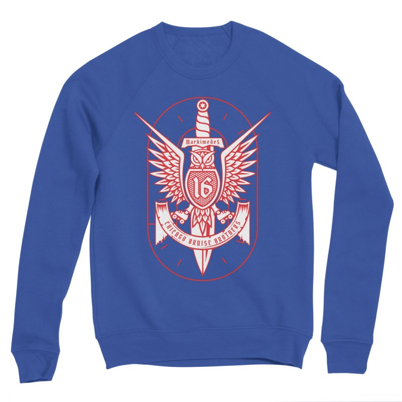 Skater Series: Markimedes Men's Sponge Fleece Sweatshirt by Chicago Bruise Brothers Roller Derby