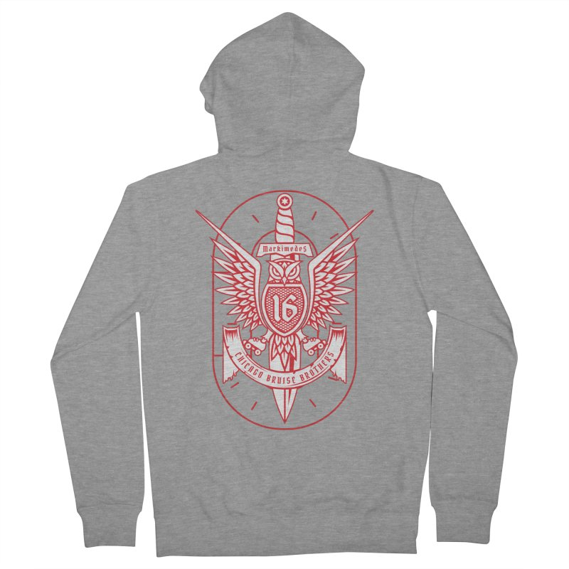 Skater Series: Markimedes Women's French Terry Zip-Up Hoody by Chicago Bruise Brothers Roller Derby
