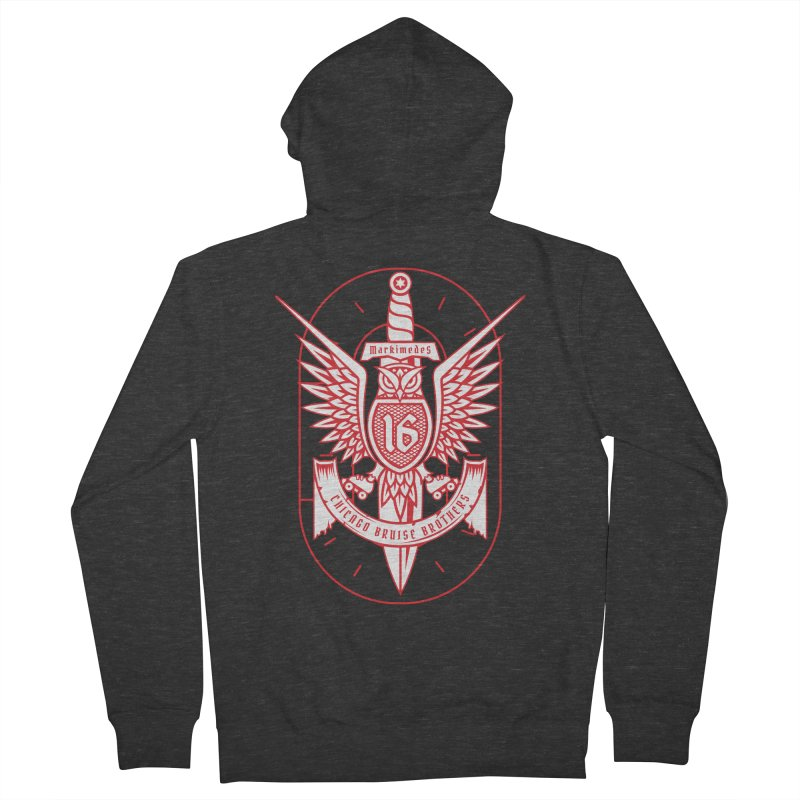 Skater Series: Markimedes Men's French Terry Zip-Up Hoody by Chicago Bruise Brothers Roller Derby
