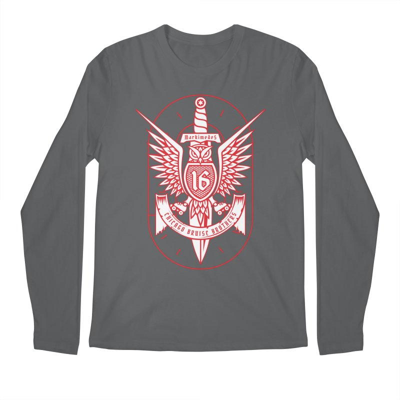 Skater Series: Markimedes Men's Regular Longsleeve T-Shirt by Chicago Bruise Brothers Roller Derby