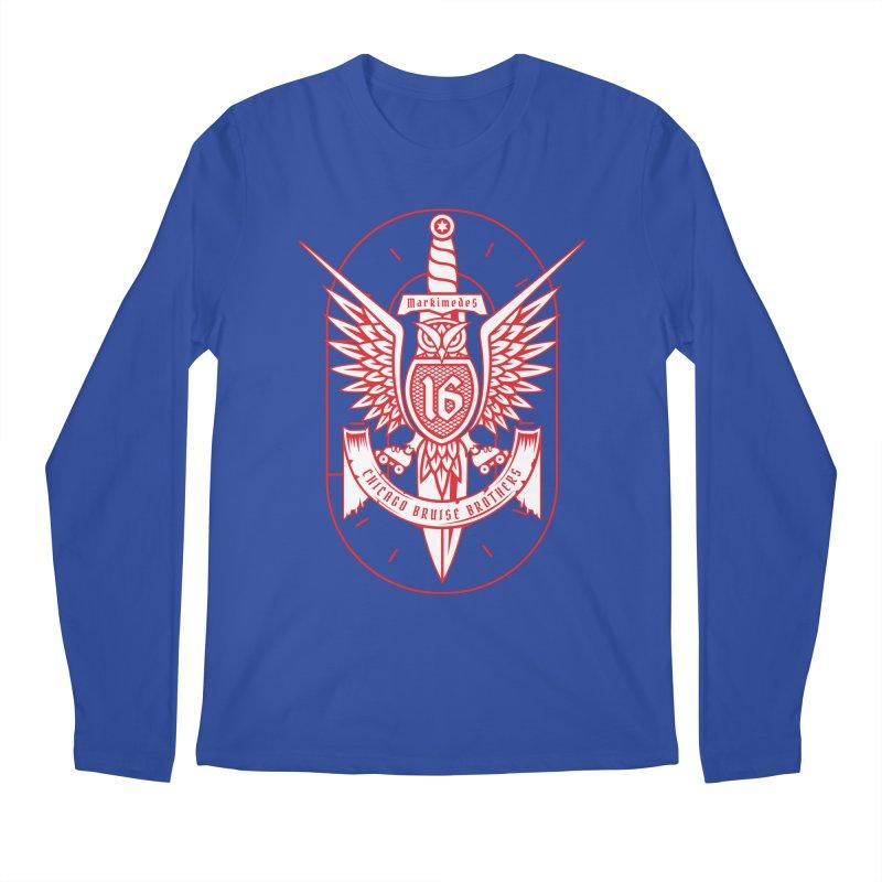 Skater Series: Markimedes Men's Regular Longsleeve T-Shirt by Chicago Bruise Brothers Roller Derby
