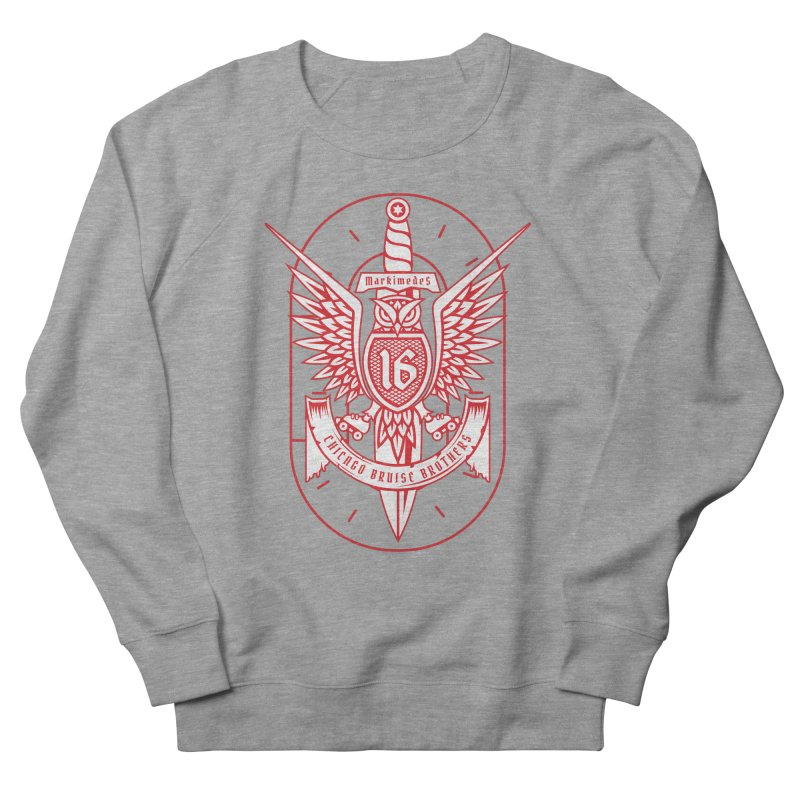 Skater Series: Markimedes Men's French Terry Sweatshirt by Chicago Bruise Brothers Roller Derby