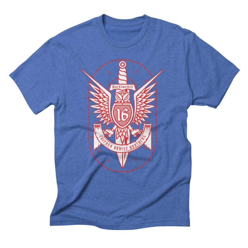 Skater Series: Markimedes Men's Triblend T-Shirt by Chicago Bruise Brothers Roller Derby