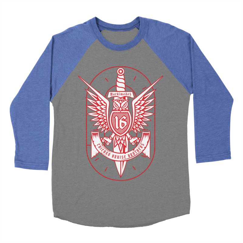 Skater Series: Markimedes Women's Baseball Triblend Longsleeve T-Shirt by Chicago Bruise Brothers Roller Derby