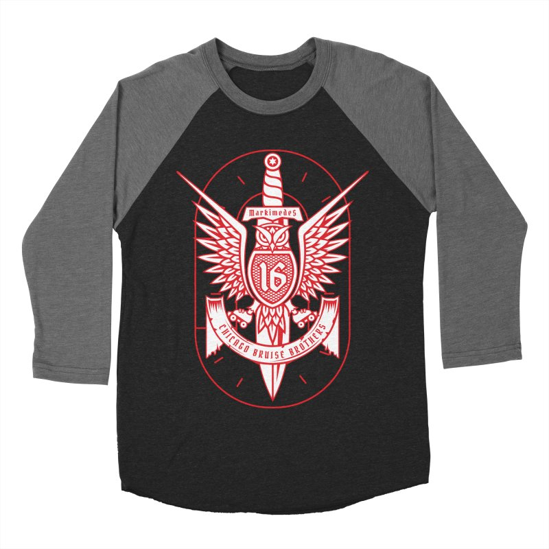 Skater Series: Markimedes Men's Baseball Triblend Longsleeve T-Shirt by Chicago Bruise Brothers Roller Derby