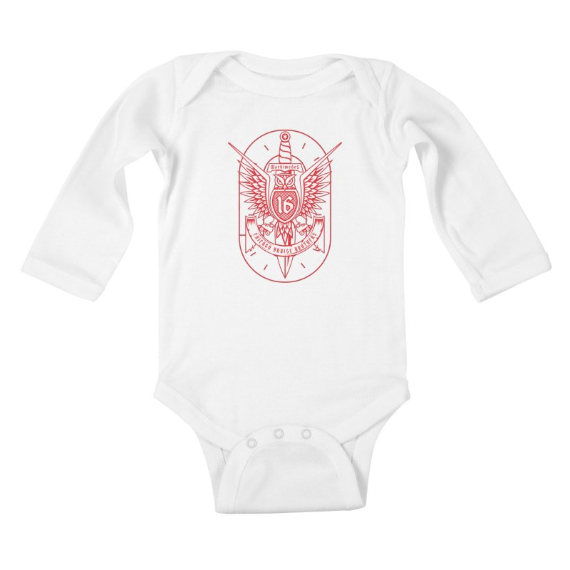 Skater Series: Markimedes Kids Baby Longsleeve Bodysuit by Chicago Bruise Brothers Roller Derby