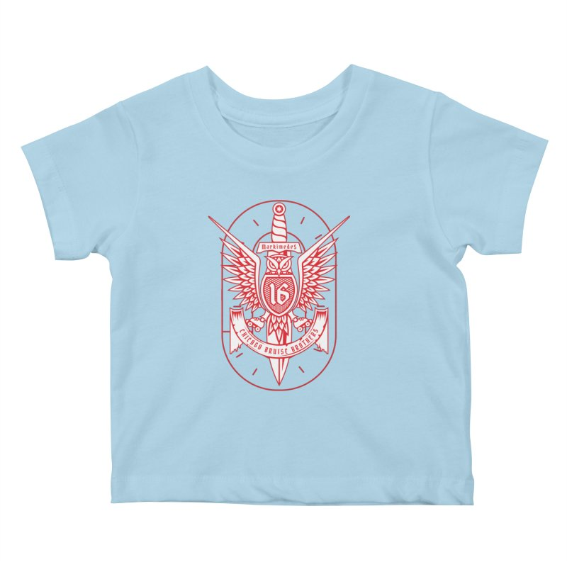 Skater Series: Markimedes Kids Baby T-Shirt by Chicago Bruise Brothers Roller Derby