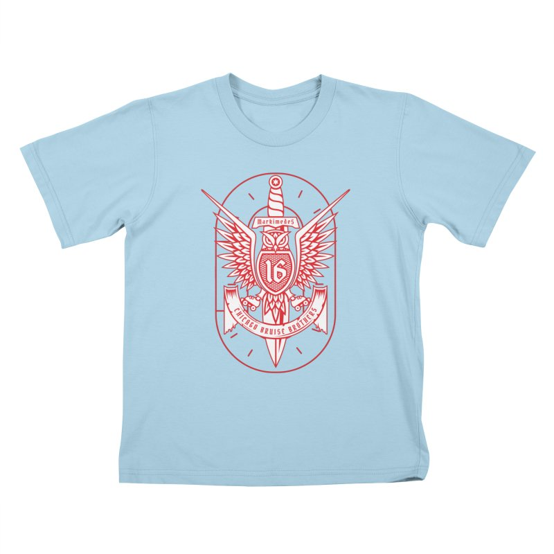Skater Series: Markimedes Kids T-Shirt by Chicago Bruise Brothers Roller Derby