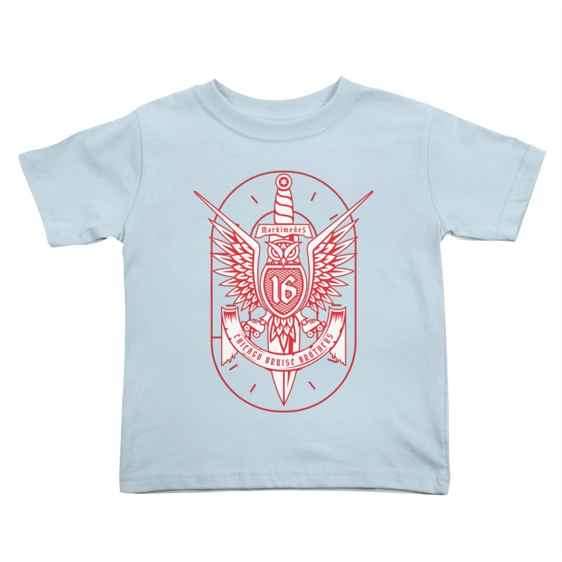 Skater Series: Markimedes Kids Toddler T-Shirt by Chicago Bruise Brothers Roller Derby