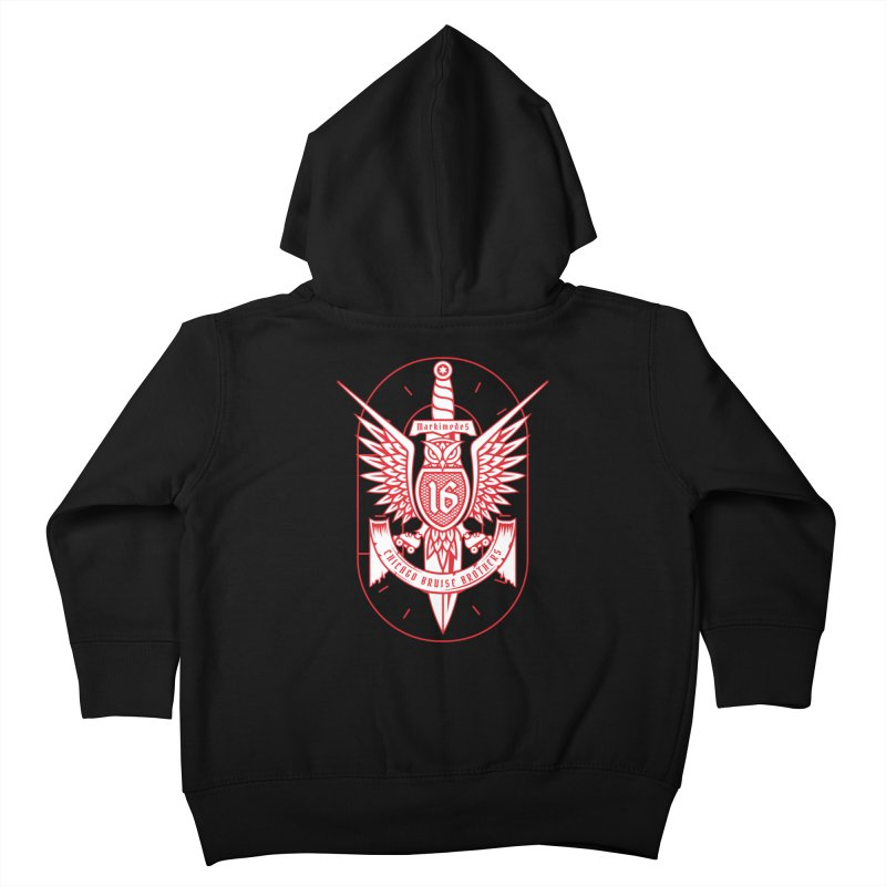 Skater Series: Markimedes Kids Toddler Zip-Up Hoody by Chicago Bruise Brothers Roller Derby