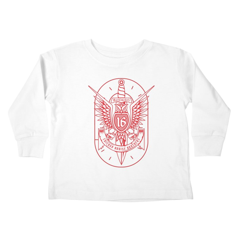 Skater Series: Markimedes Kids Toddler Longsleeve T-Shirt by Chicago Bruise Brothers Roller Derby
