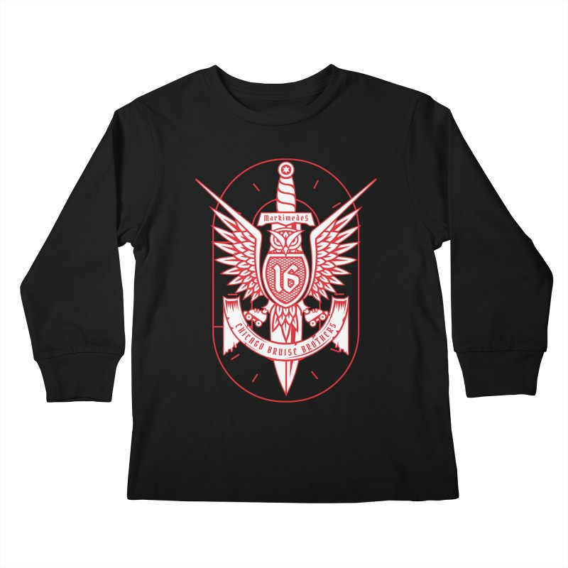 Skater Series: Markimedes Kids Longsleeve T-Shirt by Chicago Bruise Brothers Roller Derby