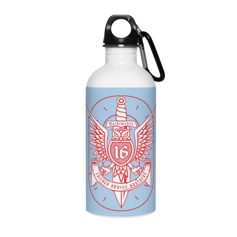 Skater Series: Markimedes Accessories Water Bottle by Chicago Bruise Brothers Roller Derby
