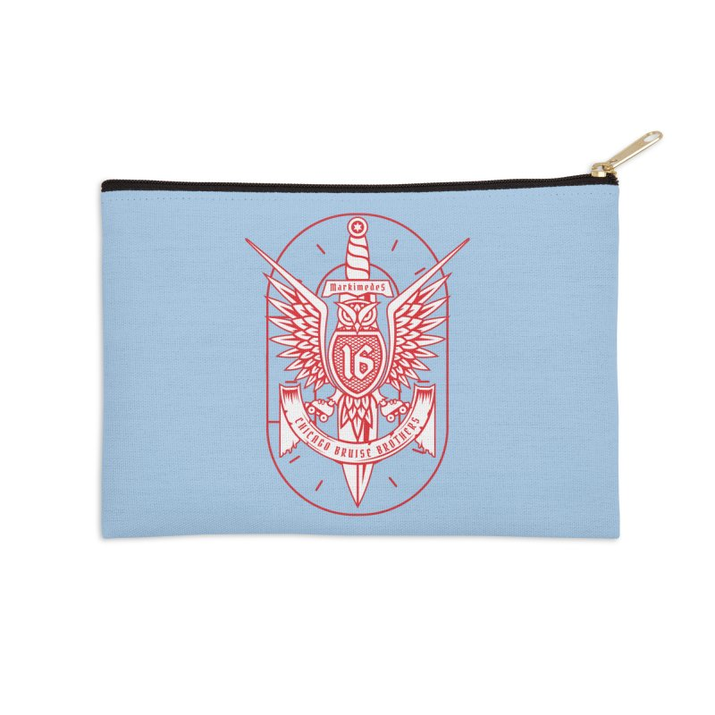 Skater Series: Markimedes Accessories Zip Pouch by Chicago Bruise Brothers Roller Derby