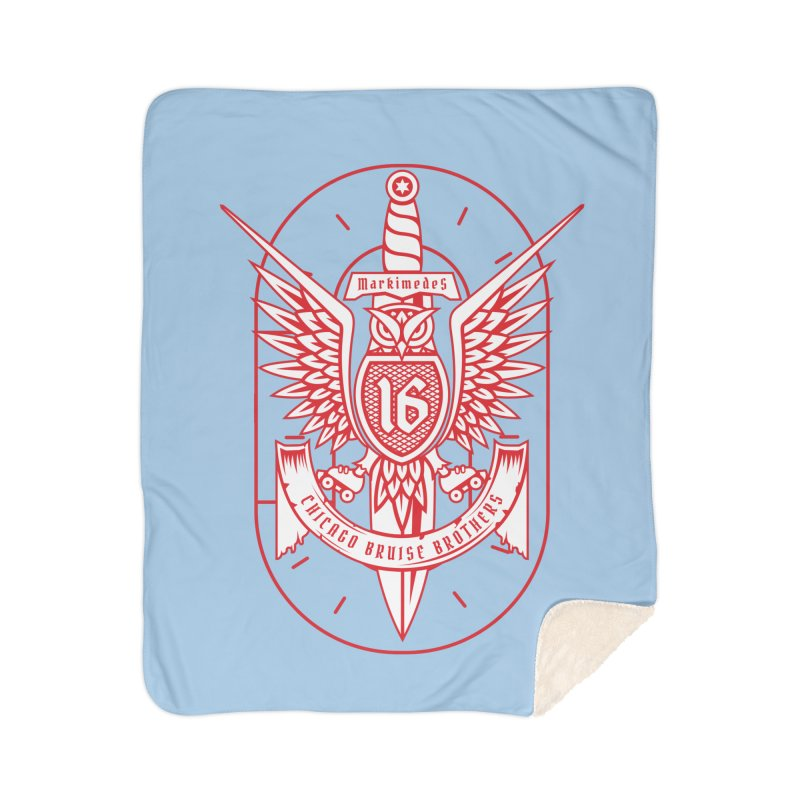 Skater Series: Markimedes Home Sherpa Blanket Blanket by Chicago Bruise Brothers Roller Derby