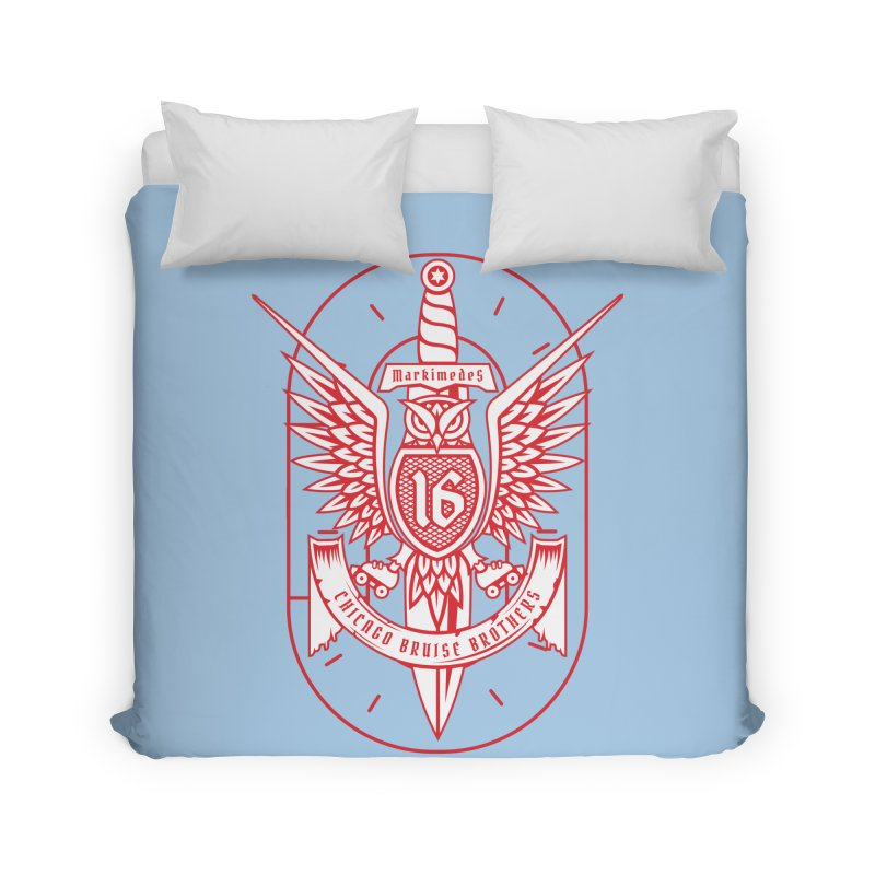 Skater Series: Markimedes Home Duvet by Chicago Bruise Brothers Roller Derby