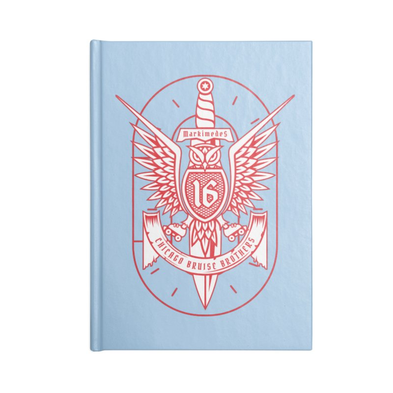 Skater Series: Markimedes Accessories Lined Journal Notebook by Chicago Bruise Brothers Roller Derby
